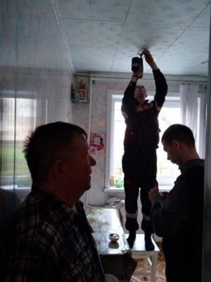 Монтаж пожарных извещателей