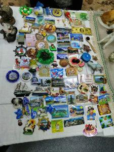 Коллекция магнитов на холодильник