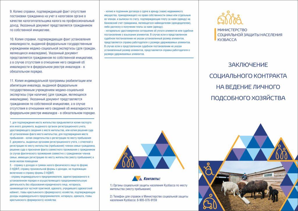 """Буклет """"Государственная социальная помощь в виде денежной выплаты на основании социального контакта""""4"""