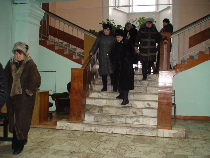 Эвакуация из здания Центра