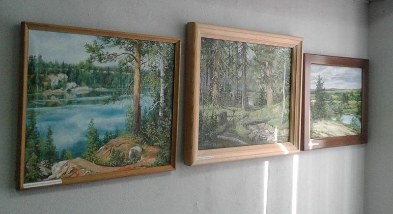 Посещение выставки «Природа в живописи и бересте»