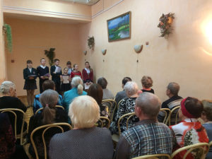 концертная програма ддетей из Воскрестной школы ля отдыхающих дневного отделения