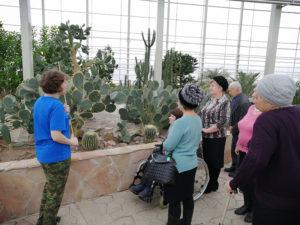 Экскурсовод рассказывает о растениях