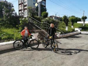Участники акции На работу на велосипеде