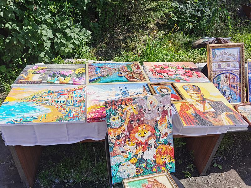 Картины выполненных в различных техниках