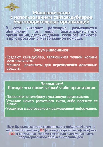 баннер Осторожно интернет мошенники